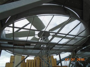 Air Cooled Condenser Fan Cell Under Construction