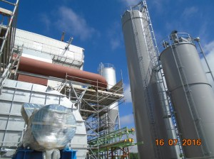 Powdered Activated Carbon and Lime Storage Silos Erection Completed