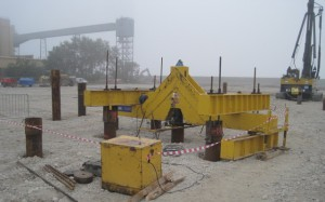 Testing of pile to confirm bearing capacity