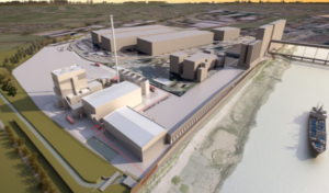 Artists impression of Tilbury Green Power plant